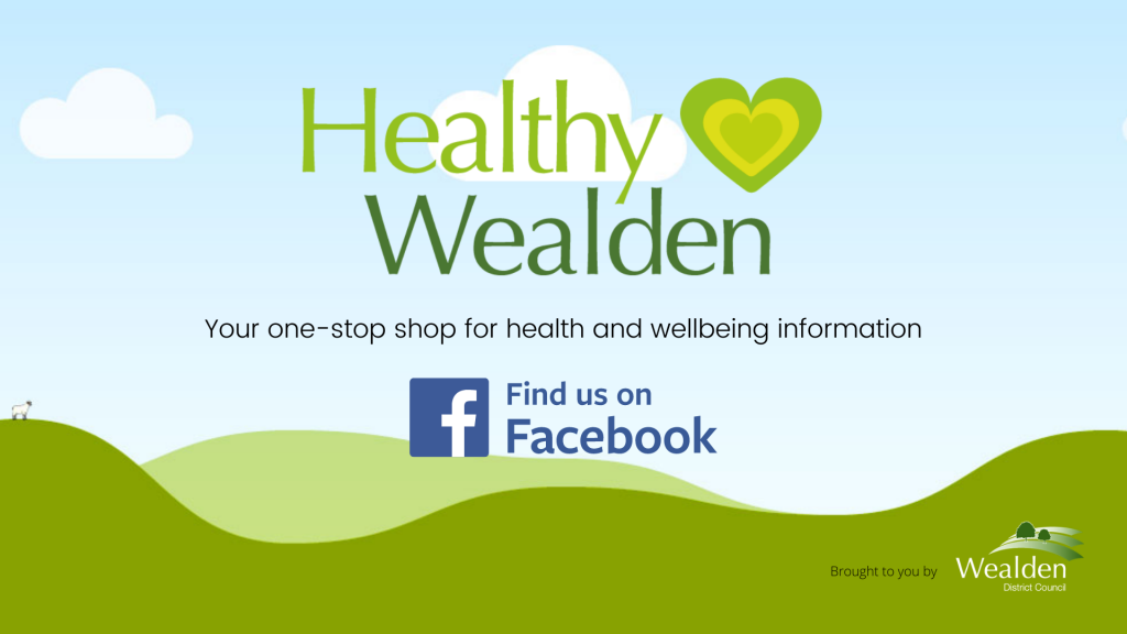Healthy Wealden find us on facebook ad @HealthyWealden